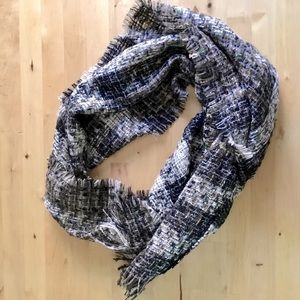 Burberry Woven Wool Plaid Fringed Scarf